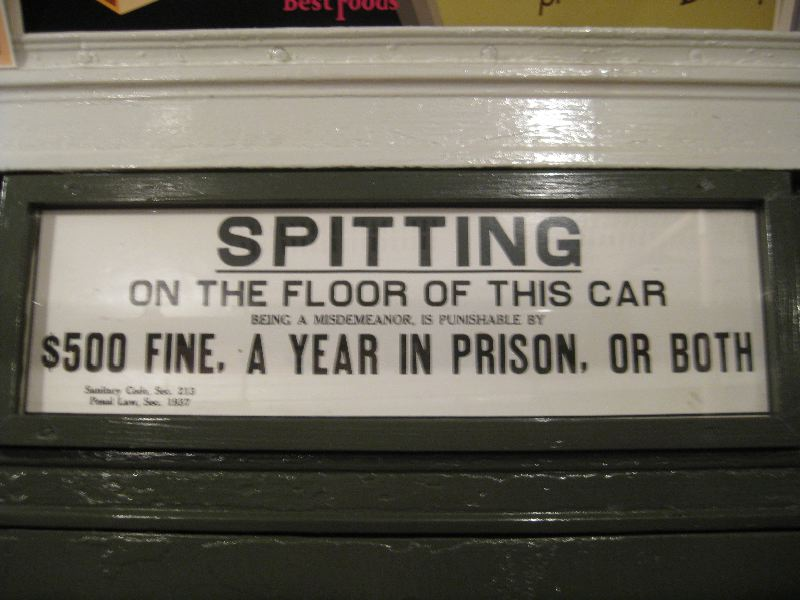 Old Spitting Warning