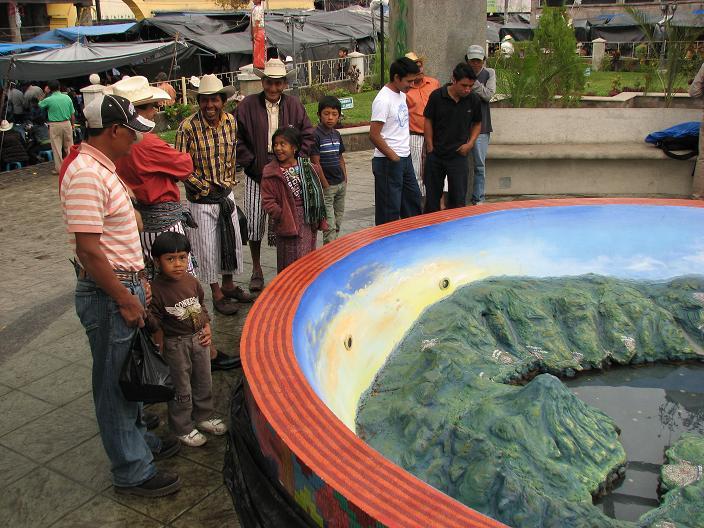 Lake Atitlan relief map