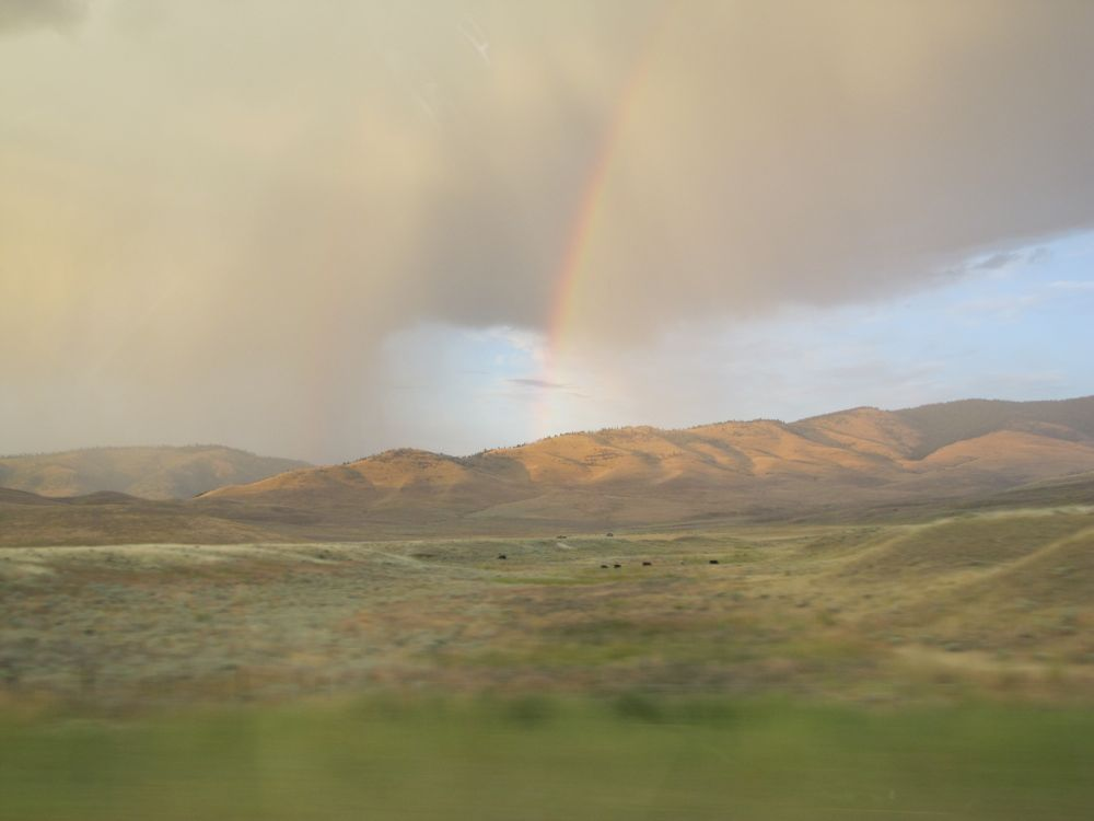 Double Rainbow near Flathead Lake