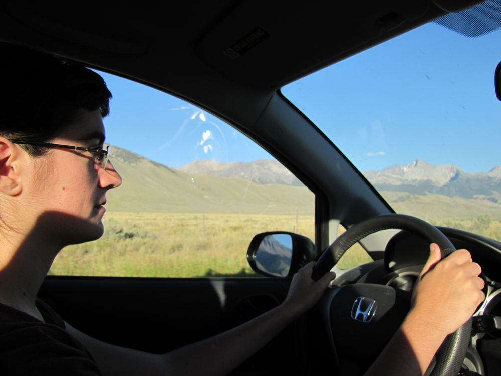 Driving by Mt Borah